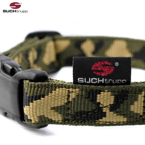 Hundehalsband JUNGLE (Camouflage) medium, Hundehalsbänder