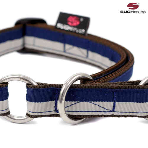 Schlupfhalsband, Stopp-Hundehalsband FUN grey-blue medium