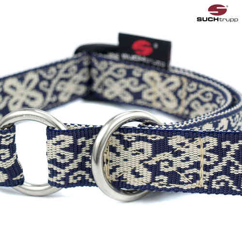 Schlupfhalsband, Stopp-Hundehalsband HAPPY blue-white medium