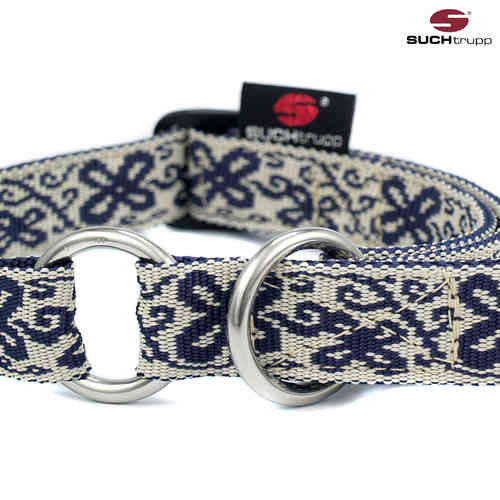 Schlupfhalsband, Stopp-Hundehalsband HAPPY white-blue medium