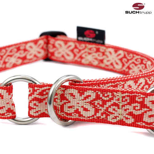 Schlupfhalsband, Stopp-Hundehalsband HAPPY RED-WHITE large