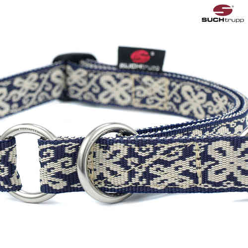 Schlupfhalsband, Stopp-Hundehalsband HAPPY blue-white large