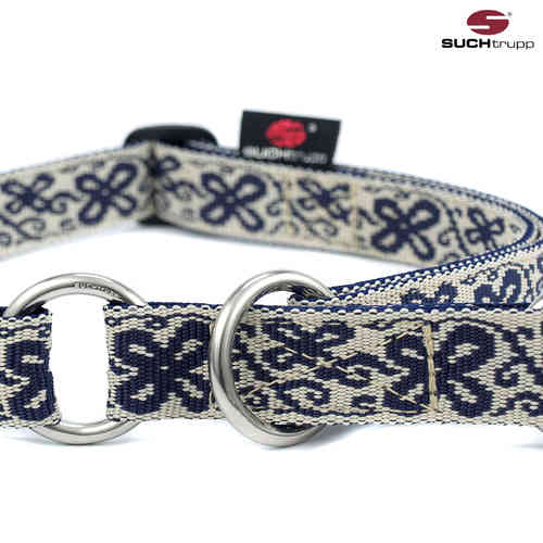 Schlupfhalsband, Stopp-Hundehalsband HAPPY white-blue large