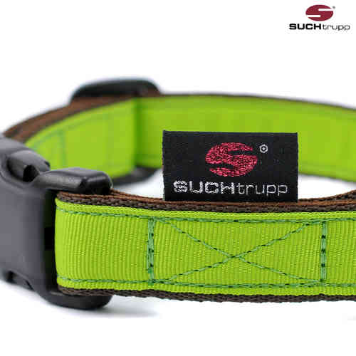 Hundehalsband PURE LIME-GREEN medium, Hundehalsbänder