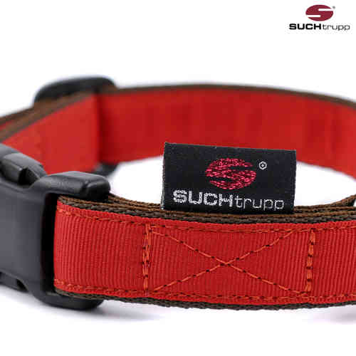 Hundehalsband PURE RED medium, Hundehalsbänder