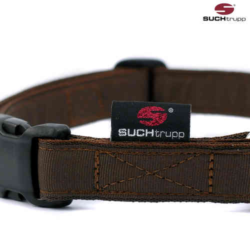 Hundehalsband PURE CHOCOLATE-BROWN large, Hundehalsbänder