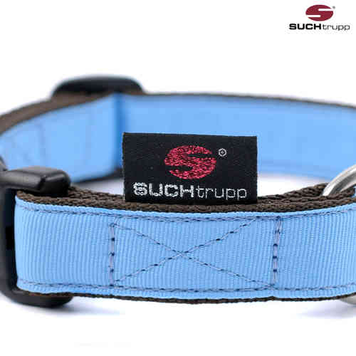 Hundehalsband PURE LIGHT-BLUE medium, Hundehalsbänder