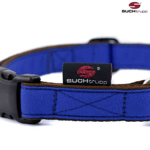 Hundehalsband PURE ROYAL-BLUE large, Hundehalsbänder