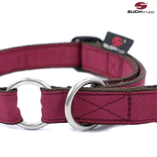 Schlupfhalsband, Stopp-Hundehalsband PURE WINE-RED medium