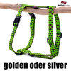 Hundegeschirr, Brustgeschirr DOTS LIMEGREEN-BROWN large