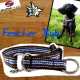 Stopp-Halsbänder, Schlupfhalsbänder, Hundehalsbänder mit Stopp MEDIUM --- martingale dog collars, slip dog collars MEDIUM