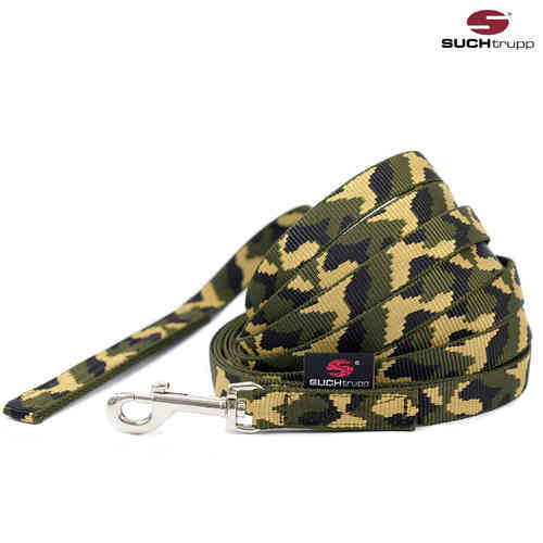 Schleppleine-Trainingsgsleine-Wanderleine JUNGLE (Camouflage)-SUCHtrupp