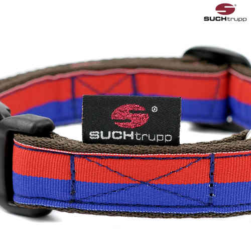 Hundehalsband FUN RED-BLUE medium, Hundehalsbänder