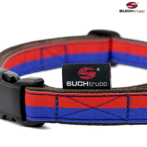 Hundehalsband FUN RED-BLUE large, Hundehalsbänder