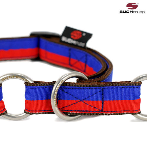 Schlupfhalsband, Stopp-Hundehalsband FUN RED-BLUE medium
