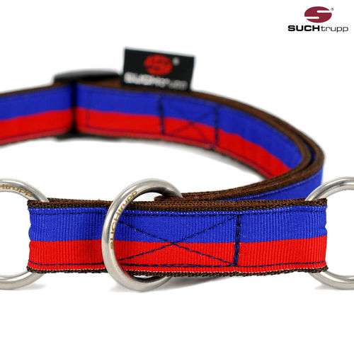 Schlupfhalsband, Stopp-Hundehalsband FUN RED-BLUE large