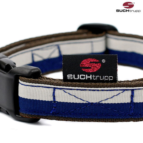 Hundehalsband FUN GREY-BLUE medium, Hundehalsbänder