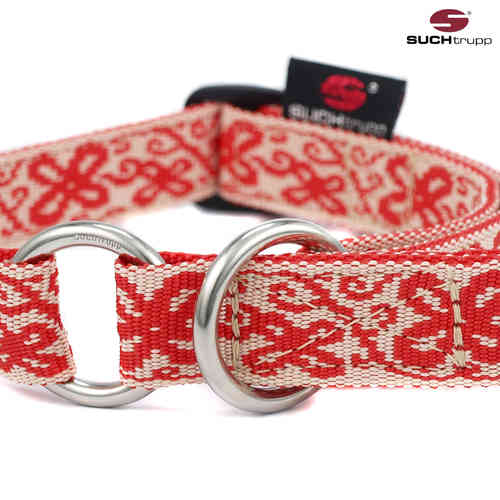 Schlupfhalsband, Stopp-Hundehalsband HAPPY WHITE-RED medium