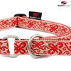 Schlupfhalsband, Stopp-Hundehalsband HAPPY WHITE-RED large
