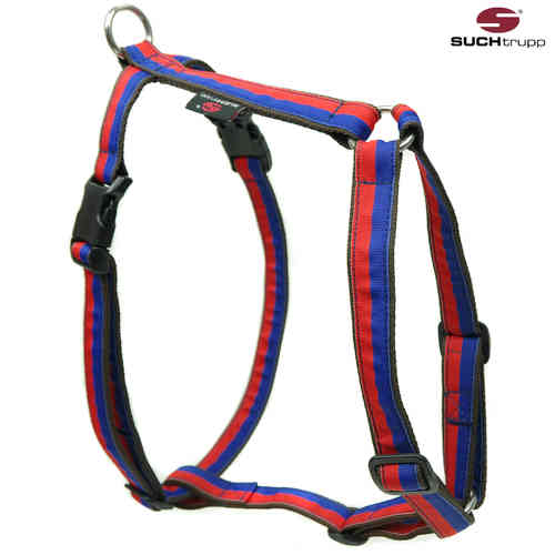 Hundegeschirr, Brustgeschirr FUN RED-BLUE large