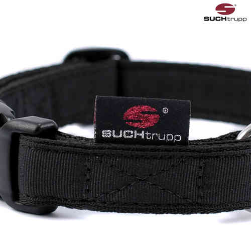 Hundehalsband PURE BLACK medium, Hundehalsbänder