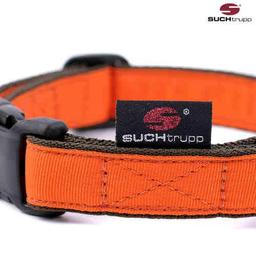 Hundehalsband PURE ORANGE medium, Hundehalsbänder