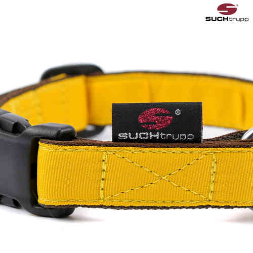 Hundehalsband PURE YELLOW medium, Hundehalsbänder
