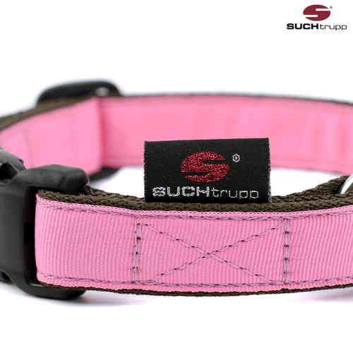 Hundehalsband PURE LIGHT-PINK medium, Hundehalsbänder