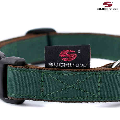 Hundehalsband PURE BRITISH RACING GREEN medium, Hundehalsbänder