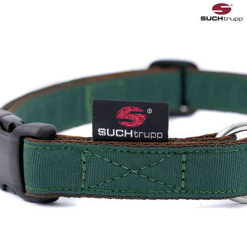 Hundehalsband PURE BRITISH RACING GREEN large, Hundehalsbänder