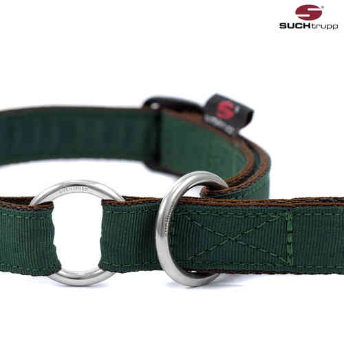 Schlupfhalsband, Stopp-Hundehalsband PURE BRITISH RACING GREEN medium