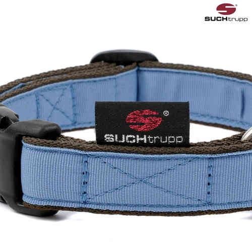 Hundehalsband PURE GREY-BLUE medium, Hundehalsbänder