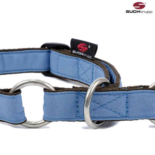 Schlupfhalsband, Stopp-Hundehalsband PURE GREY-BLUE medium