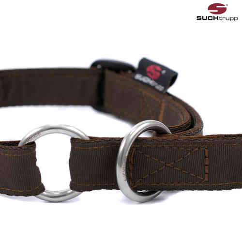 Schlupfhalsband, Stopp-Hundehalsband PURE CHOCOLATE-BROWN medium