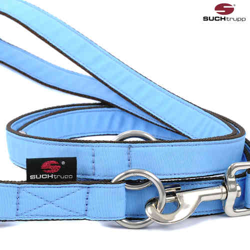 Langleine / Extra-Langleine, Hundeleine, Führleine PURE LIGHT-BLUE medium-large