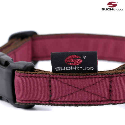 Hundehalsband PURE WINE-RED medium, Hundehalsbänder