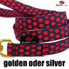 Cityleine / Countryleine, Hundeleine, Führleine DOTS DARKBLUE-RED medium-large